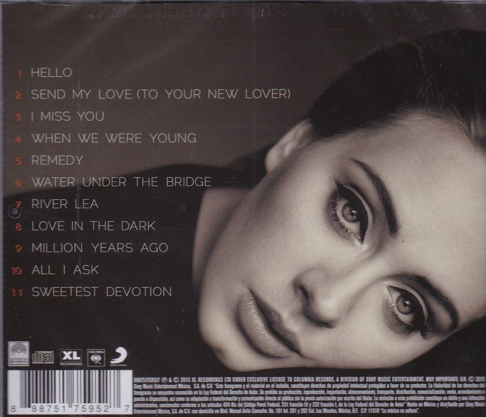 Zdjęcie nagrody Adele 25 CD